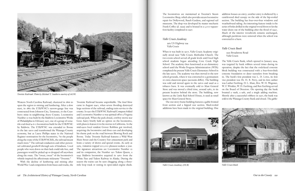 The Architectural History of Watauga County, North Carolina, edited by J. Daniel Pezzoni