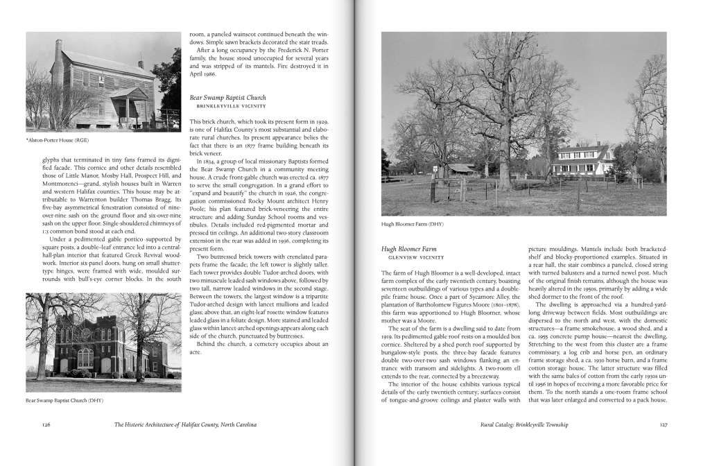 The Historic Architecture of Halifax County, North Carolina by Henry V. Taves, Allison H. Black and David R. Black
